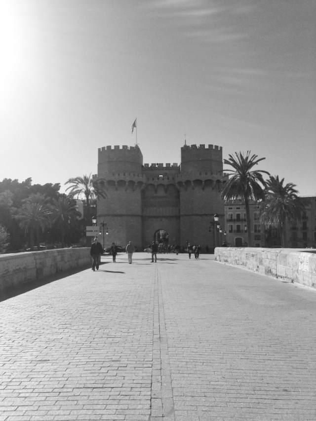 Vista hacia la Puerta de Serranos
